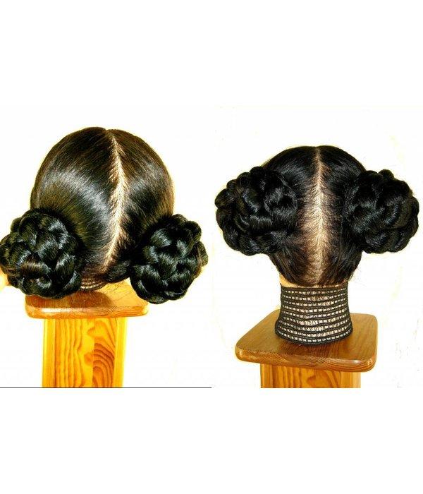 Princess Leia Ceremonial Bun with Braid, short variant