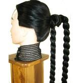 Braided Bun with Braid Down, short variant
