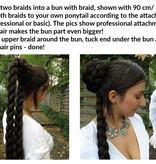 Braided Bun with Long Braid Down
