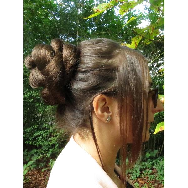 Rose Chignon Hair Bun, S