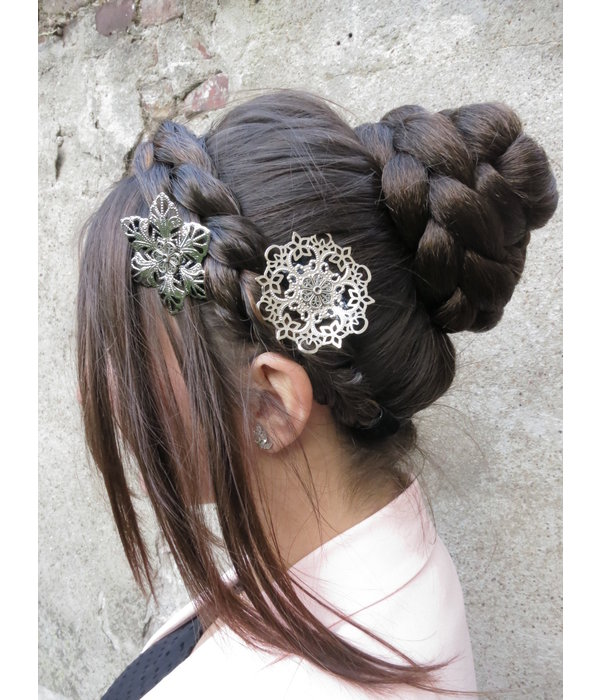 Rose Chignon Hair Bun, S