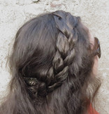 Messy French Braid Headband, thin & wide