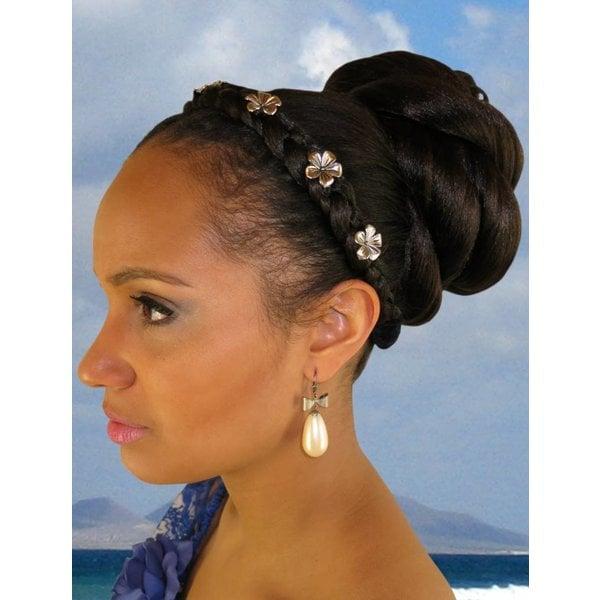 African American Twist Bun Hairpiece M