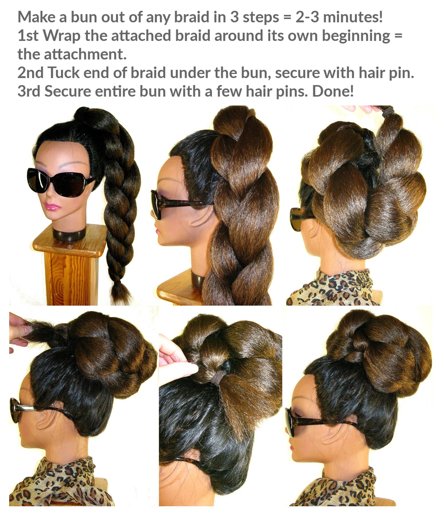 Braid Extension For Braided Chignon Bun All Colors Magic Tribal Hair Magic Tribal Hair