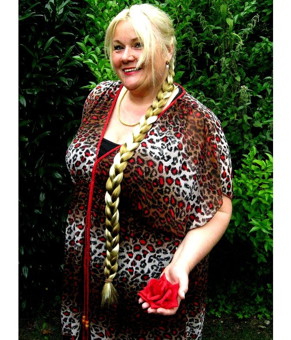 Braid/ Plait S extra size, crimped hair