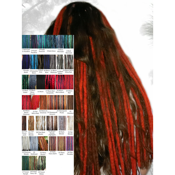 Clip-In Dread Falls, pick your color