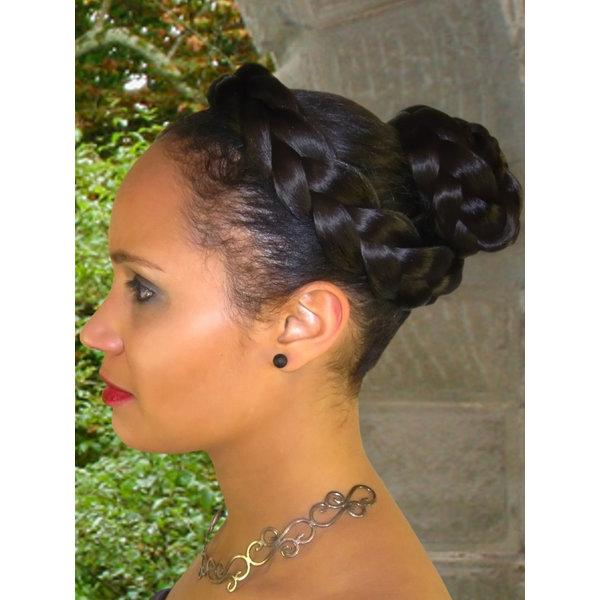 Halo Braid Hair Wreath, natural