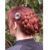 Twist Bun & Braid M, crimped hair