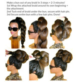 Tribal Hair Buns/ Earphones natural, size S
