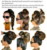 Boho Hair Buns Topknots natural, size M