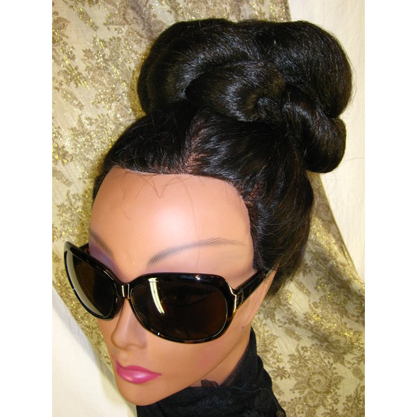 Supersize Hip Hop Twist Bun, voluminous hair