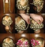 Twist Hair Buns, wavy hair, size S