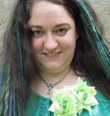 Rose Hair Clip Green 2 x