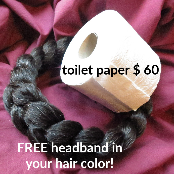 Toilet paper ad reconstructed with magic tribal hair product