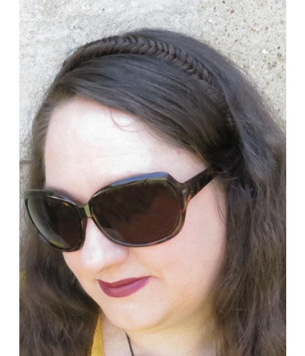 Headband Herringbone Fishtail Braid, slim