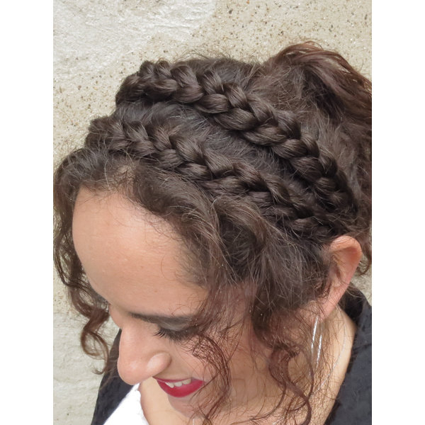 Double Messy Braid Headband, flat
