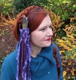 Purple Passion Gold (Peacock) tassel clip