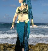 Blue Mermaid (Peacock) hip & hair tassel