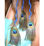 Peacock Extensions 3 Braids, blue