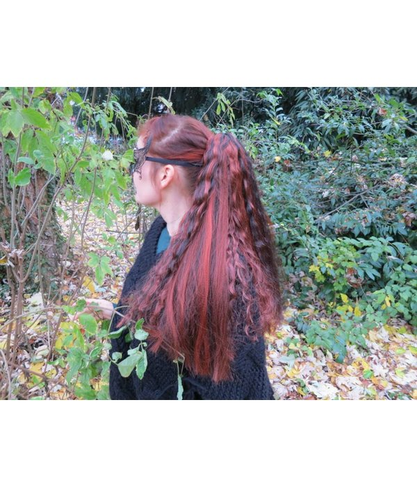 Goth Hair Fall Black Peacock M wild style