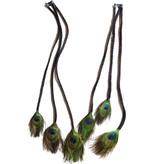 Set Peacock Extensions 6 Braids, black
