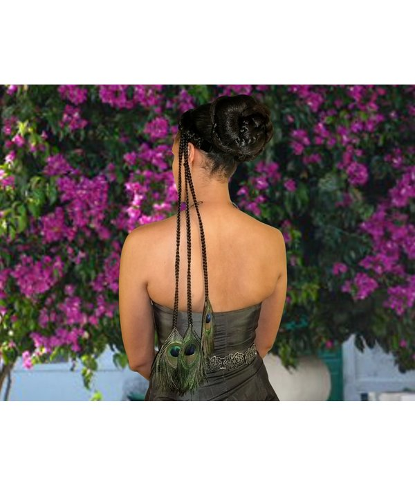 Peacock Extensions 3 Braids, black