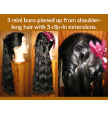 Clip-in Extensions, wavy hair