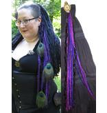 Purple Dream (Peacock) hip tassel