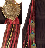 Wine Red Steampunk (Peacock) yarn falls