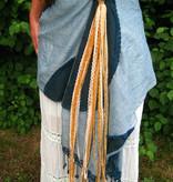 Gypsy Gold (Peacock) belt & hair accessory