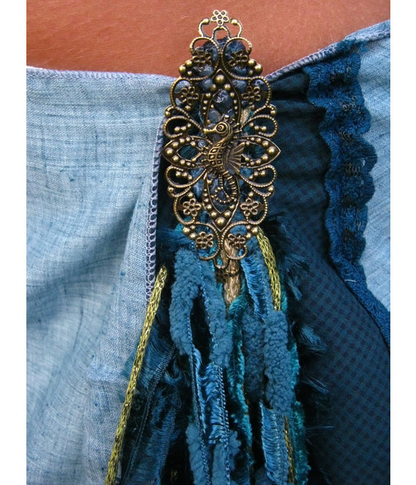 Golden Mermaid (Peacock) yarn falls