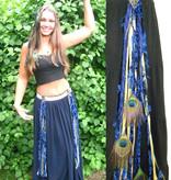 Gold & Blue (Peacock) yarn fall