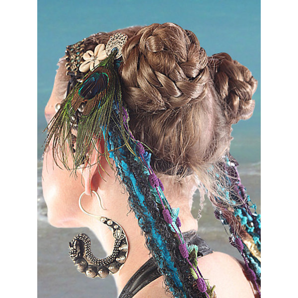 Tribal Hair Buns natural, S