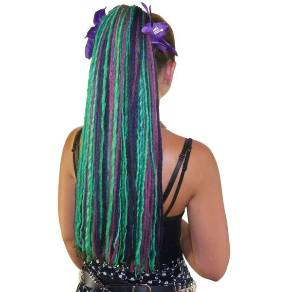 Purple Peacock Dreads