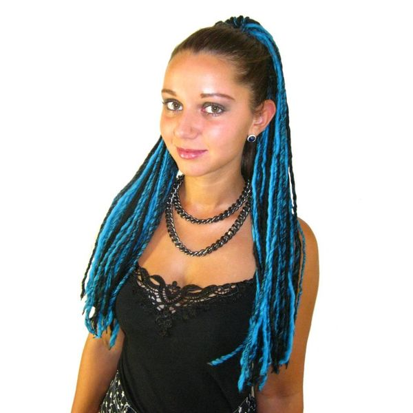 Turquoise Black Dreads