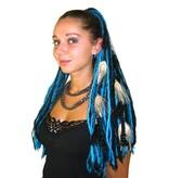Turquoise Black Goth Dread Fall