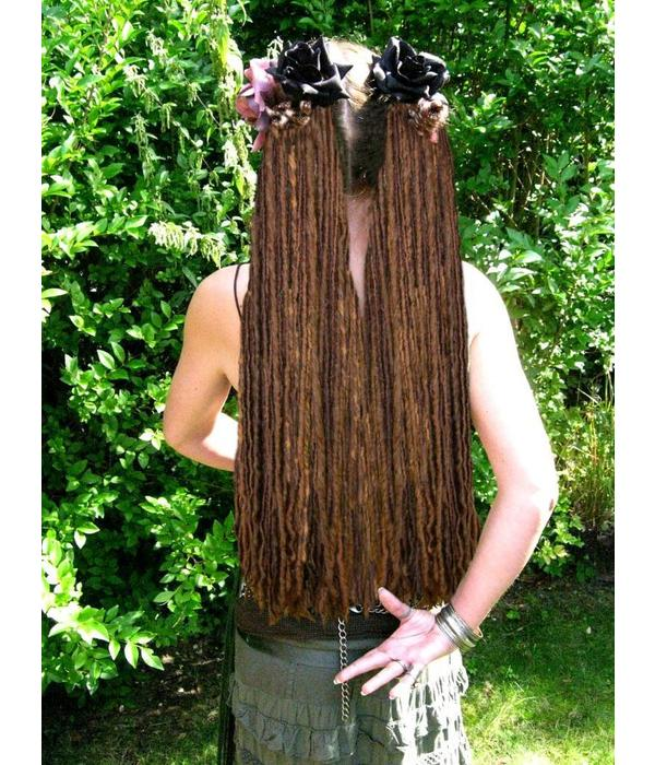 Chestnut Brown Dread Fall