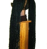 Black Wavy Dreadlocks Hair Piece