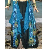 Blue Mermaid (Peacock) hip & hair tassel