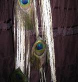 Antique Peacock hip & hair tassel clip/ hair fall