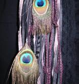Nostalgia Peacock hip & hair tassel clip/ hair fall