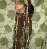 Steampunk (Peacock) hip & hair tassel clip/ hair fall
