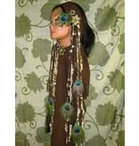 Steampunk (Peacock) hip & hair tassel clip/ hair fall