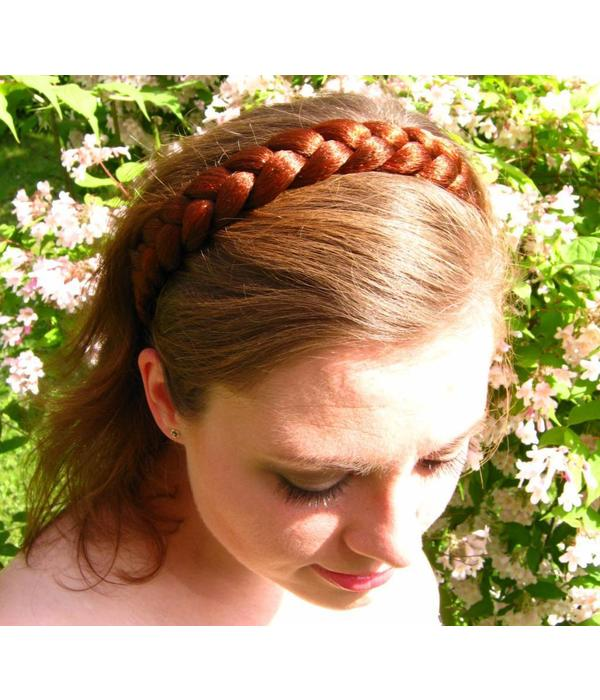 Rustic Braid Headband Gretel, large