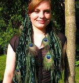 Emerald Fairy Peacock hair fall