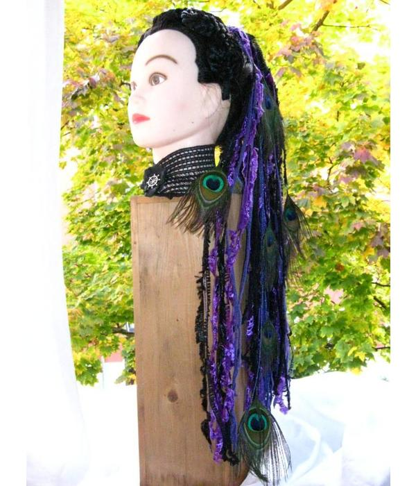 Purple Passion Peacock Yarn Hair Fall