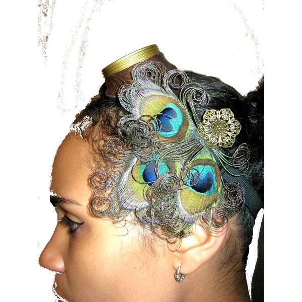 Steampunk Peacock Headpiece
