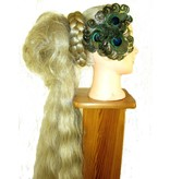 Peacock Feather Headpiece - silver flower