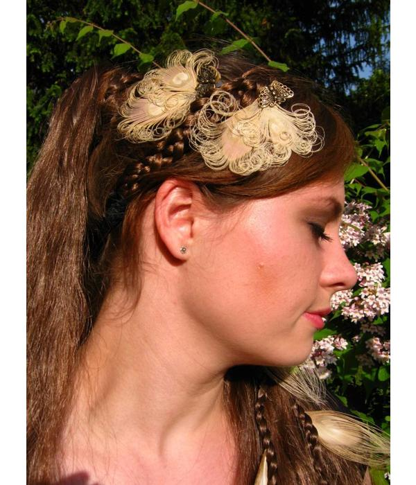Peacock Butterlfy Fascinator - fair feathers