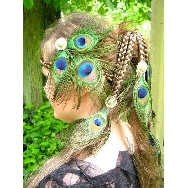 Peacock Silver Tribal Headpiece